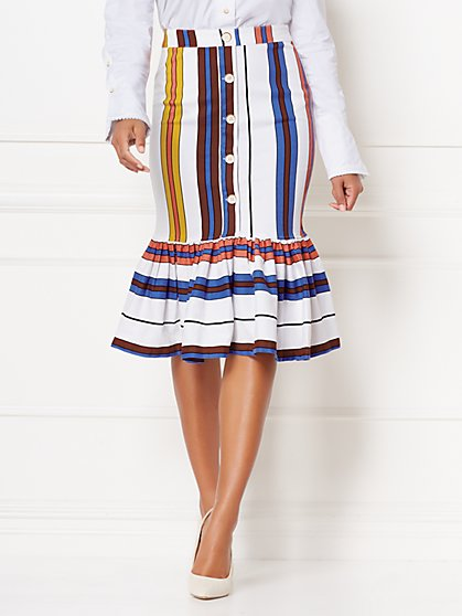 Shay Stripe Skirt - Eva Mendes Collection - New York & Company