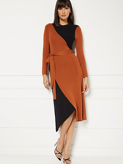 Sheena Colorblock Sweater Dress - Eva Mendes Collection - New York & Company