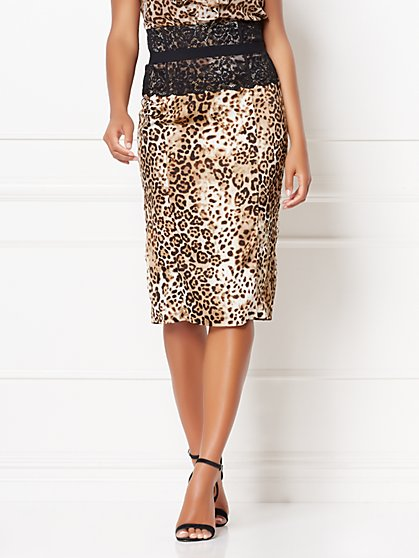 Sheena Leopard Skirt - Eva Mendes Collection - New York & Company
