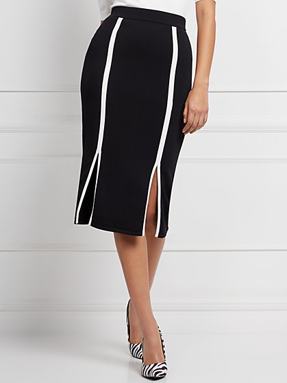 Sheree Contrast-Trim Sweater Skirt - Eva Mendes Collection - New York & Company