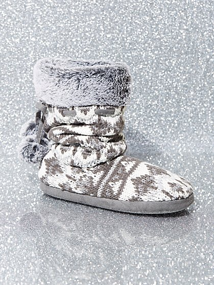 Sherpa Boot Slipper - New York & Company