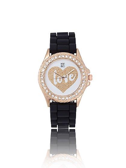 "Shimmering ""LOVE"" Watch - New York & Company"