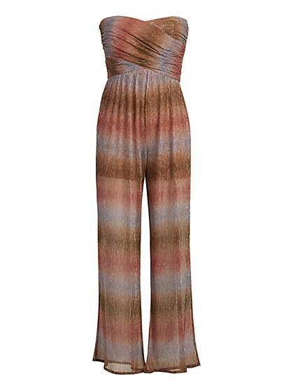 Shimmery Strapless Jumpsuit - Gabrielle Union Collection - New York & Company