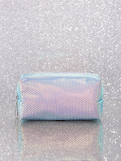 Shimmery Zip-Top Cosmetic Case - New York & Company
