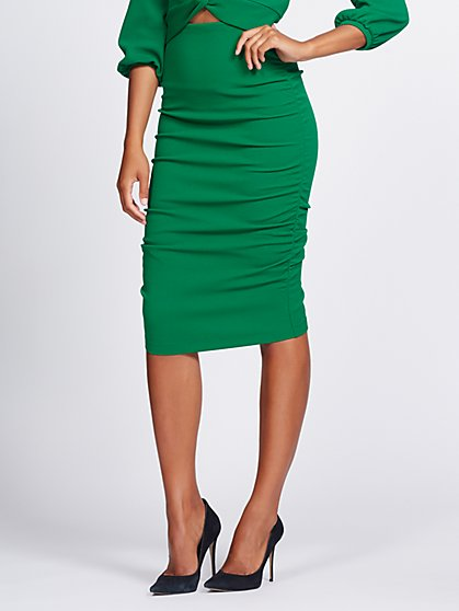Shirred Pencil Skirt - Gabrielle Union Collection - New York & Company