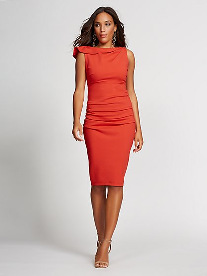 Shirred Sheath Dress - Gabrielle Union Collection - New York & Company