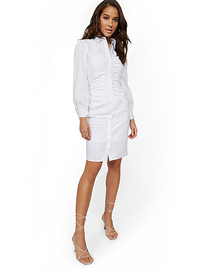 Shirred Shirtdress - New York & Company