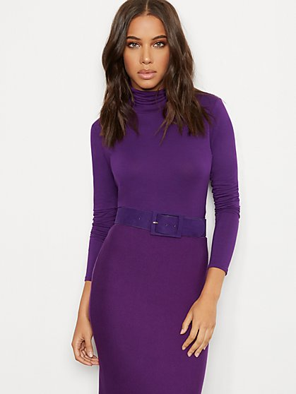 Shirred Turtleneck Top - 7th Avenue - New York & Company