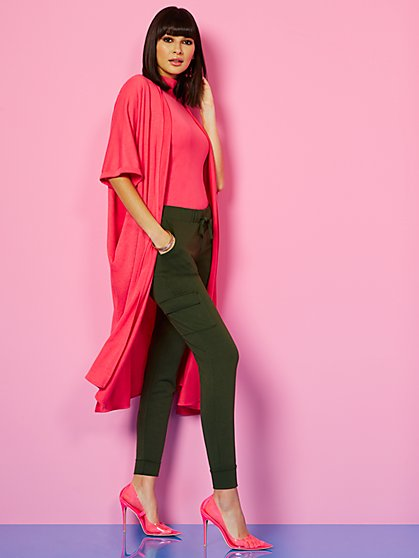 Short Dolman-Sleeve Duster - Sweet Pea - New York & Company