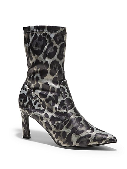 Short Scrunch Boot - Leopard Print - New York & Company