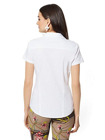 ee492731e400d ... Short-Sleeve Madison Stretch Shirt - 7th Avenue - New York   Company ...