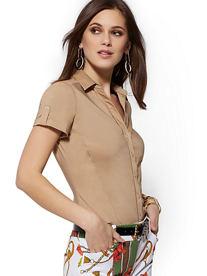 Short-Sleeve Madison Stretch Shirt - 7th Avenue - New York & Company