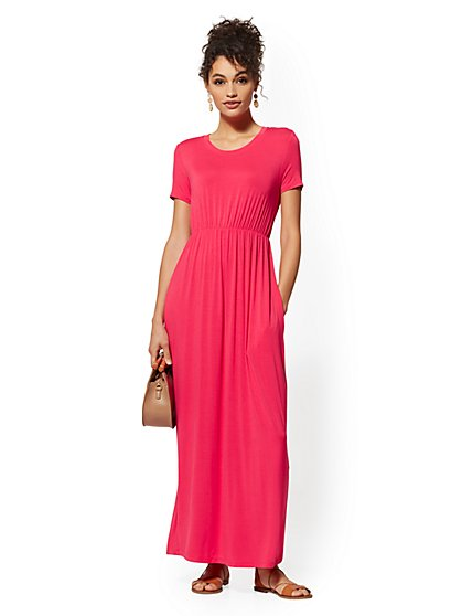 Short-Sleeve Maxi Dress - Soho Street - New York & Company