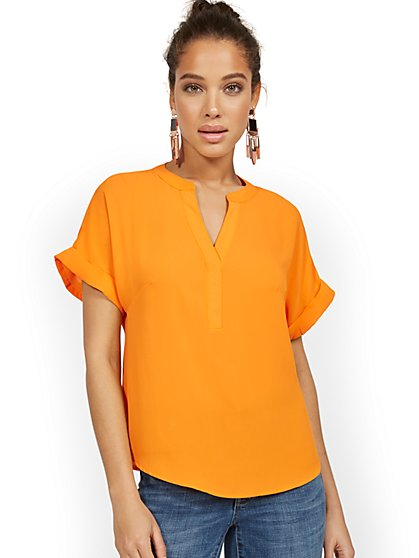 Short-Sleeve Pullover Top - New York & Company