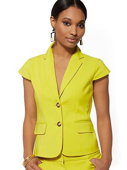 Short-Sleeve Tulip Jacket - All-Season Stretch - New York & Company