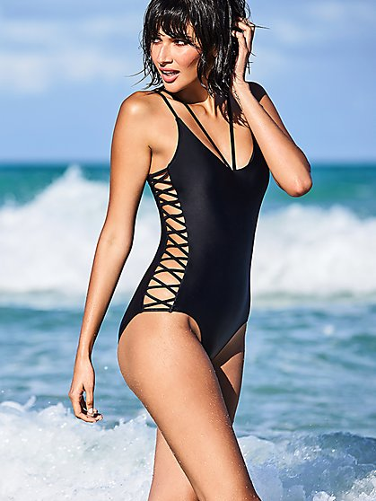 Side Cutout One-Piece Swimsuit - NY&C Swimwear - New York & Company