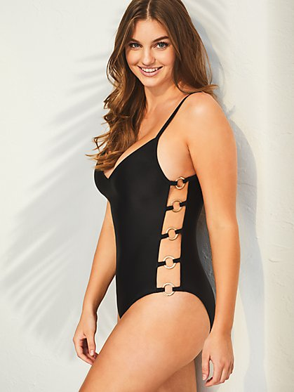 Side Ring One-Piece Swimsuit - New York & Company