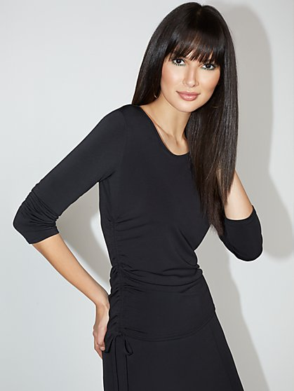 Side-Ruched Top - NY&C Style System - New York & Company
