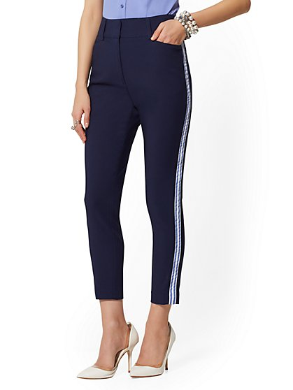 Side-Stripe High Rise Ankle Pant - All-Season Stretch - 7th Avenue - New York & Company