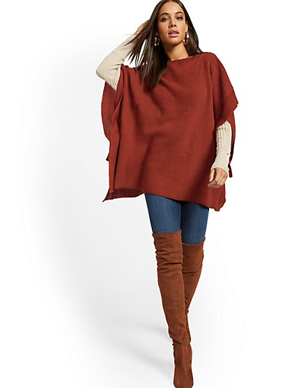 Side-Tie Poncho - New York & Company