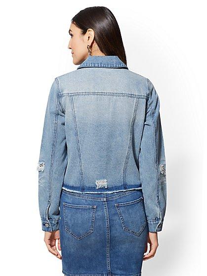 52cee87b5a ... Side-Zip Denim Jacket - New York   Company