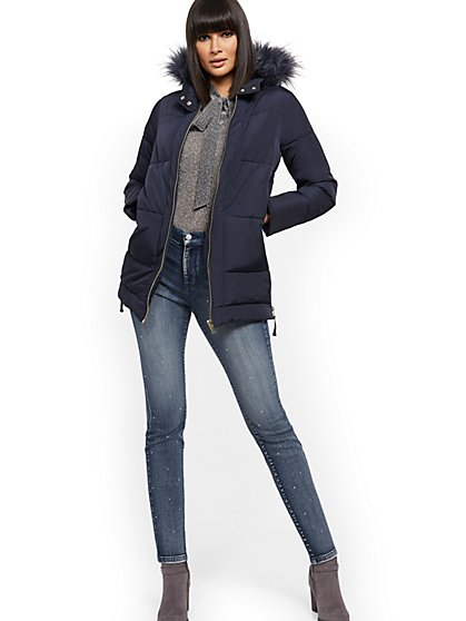 Side-Zip Puffer Jacket - New York & Company