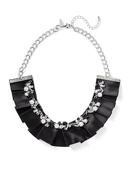 Silvertone Collar Statement Necklace - New York & Company
