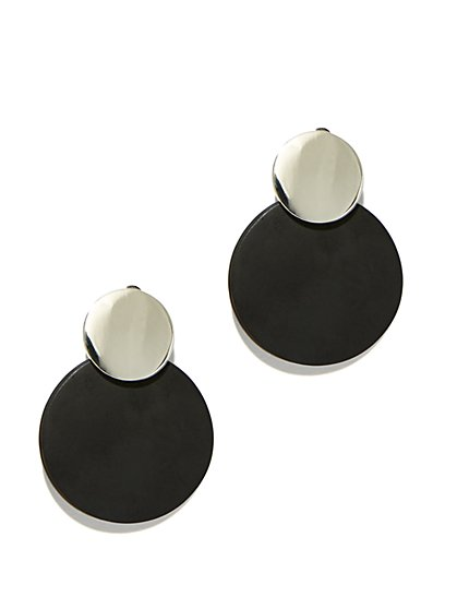 Silvertone Drop Earring - New York & Company