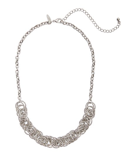 Silvertone Link Necklace - New York & Company