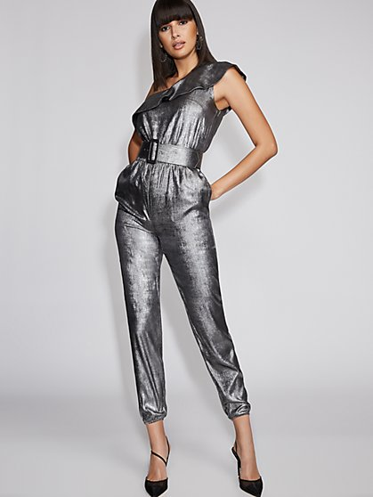 Silvertone One-Shoulder Jumpsuit - Gabrielle Union Collection - New York & Company