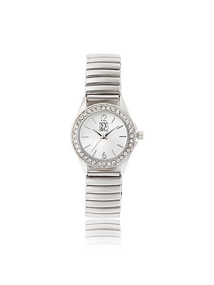 Silvertone Pave Watch - New York & Company