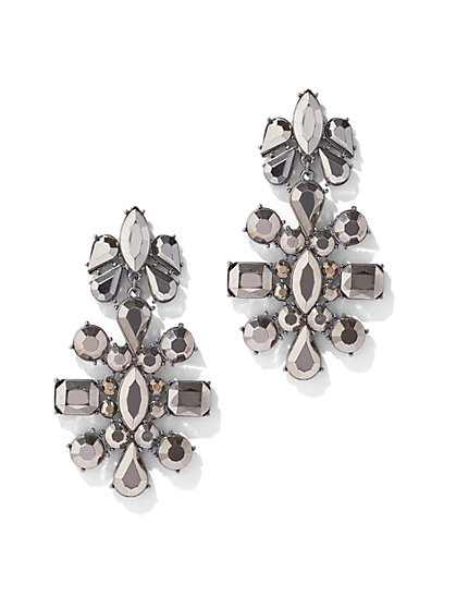 Silvertone Statement Drop Earring - New York & Company