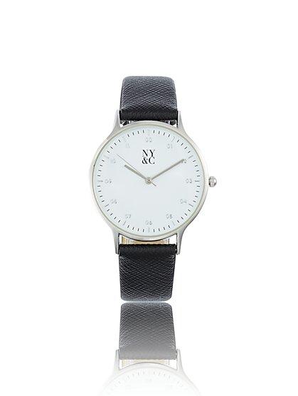 9ceecc927c10 Silvertone Textured-Band Watch - New York   Company ...