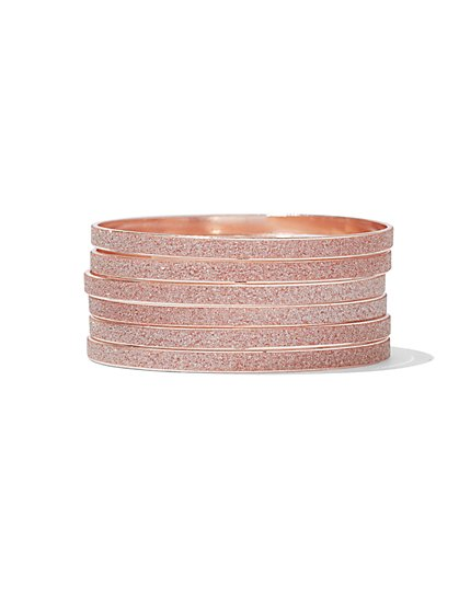 Six-Row Bangle Bracelet - New York & Company