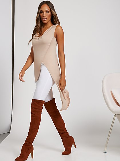 Sleeveless Asymmetrical Top - Sweet Pea - New York & Company