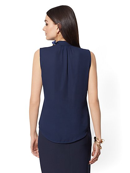 8d7d1b0ed6267f ... Sleeveless Bow-Accent Blouse - 7th Avenue - New York   Company ...