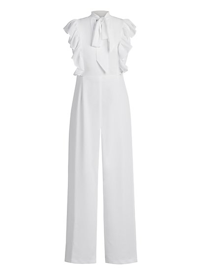 Sleeveless Bow Jumpsuit - New York & Company