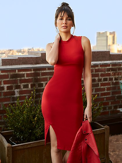 Sleeveless Mockneck Dress - Everyday Collection - New York & Company