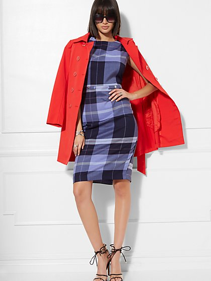 Sleeveless Plaid Dress - 7th Avenue - New York & Company