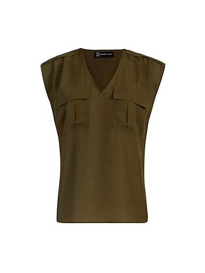 Sleeveless Pull-Over Utility Blouse - New York & Company