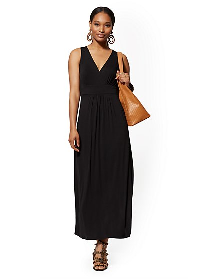 Sleeveless Wrap Maxi Dress - New York & Company
