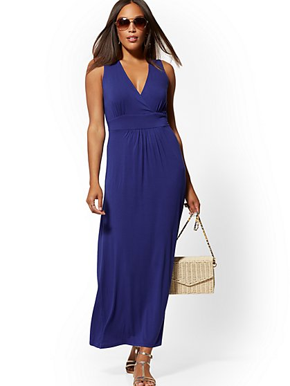 c3f4baef696f Sleeveless Wrap Maxi Dress - New York & Company ...