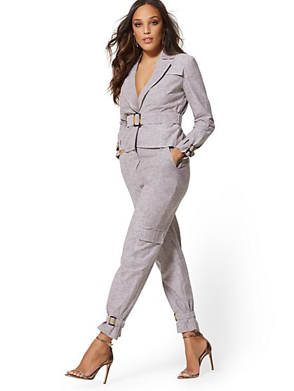 7c12e5ee46351 Slim Ankle Pant - City Stretch Linen Flex - 7th Avenue - New York   Company  ...