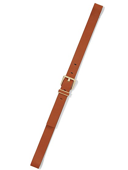 Slim Faux-Leather Belt - New York & Company