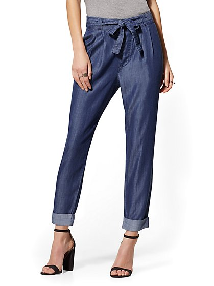 Slim-Leg Tencel Jogger Pant - New York & Company