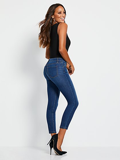 46579d7a9 Slimming Super-Skinny Ankle Jeans - Medium Blue - New York & Company ...