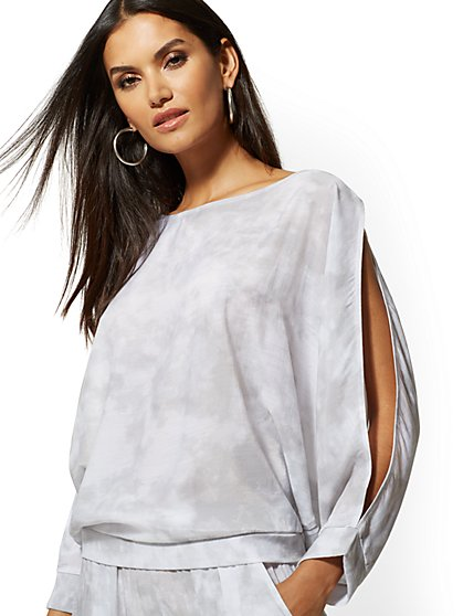 Slit-Sleeve Dolman Blouse - Soho Street - New York & Company