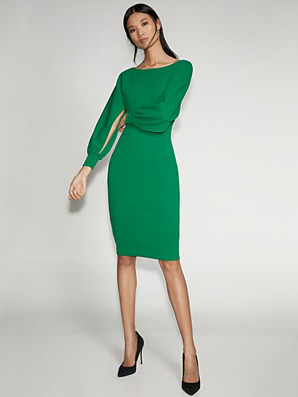 Slit-Sleeve Sheath Dress - Gabrielle Union Collection - New York & Company