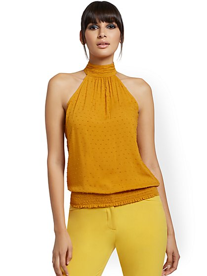 Smocked Halter Top - New York & Company