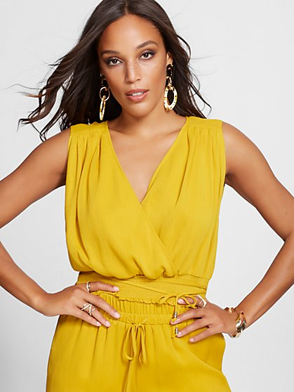 Smocked Wrap Blouse - Gabrielle Union Collection - New York & Company
